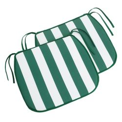 Green striped seat pad, 6 pack