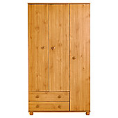 Addison 3 Door Wardrobe, Pine Effect