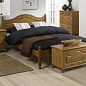 Woodbury Single Bed Frame, Antiqued Pine