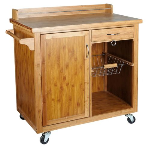 Bamboo Cabinet Kitchen Trolley