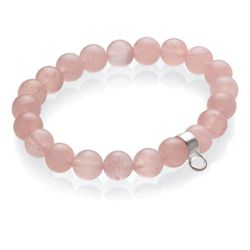 Sterling Silver And Rose Quartz Bracelet