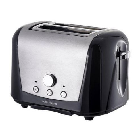 Morphy Richards 44262 Accents Country 2 Slice Toaster - Black