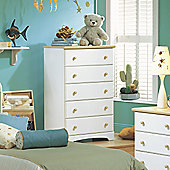 South Shore Newbury 5 Drawer Summertime Chest
