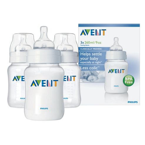 Philips Avent Airflex 260ml Bottles x 3