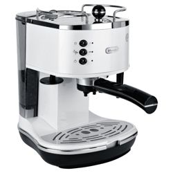 DeLonghi  15 Bar Pump Espresso Coffee Machine - White