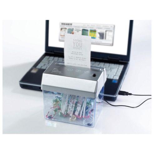 Texet USB Desktop Strip Cut Shredder with 1.25 Litre Bin