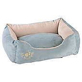 Scruffs faux suede pet bed small blue