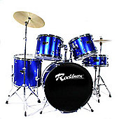 Rockburn Full Size 5 Piece Drum Kit - Blue