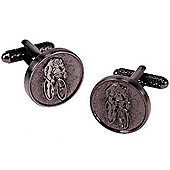Medal Style Cycling Novelty Themed Cufflinks