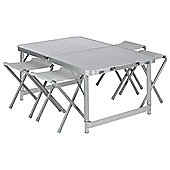 Tesco Double Folding Aluminium Camping Table & Chair Set