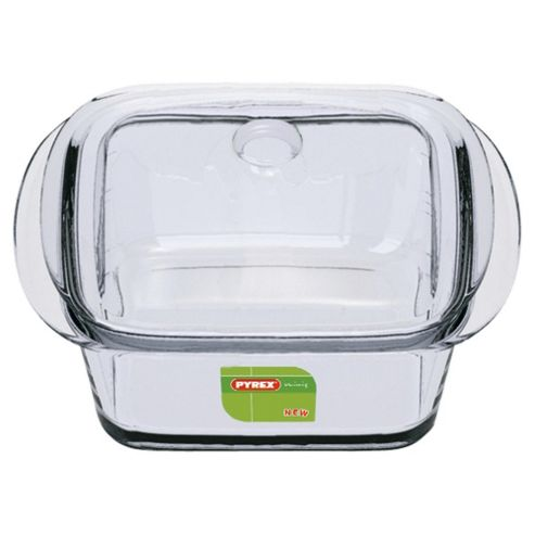Pyrex Minis Set of 2 Square Glass Casserole Dishes with Lids