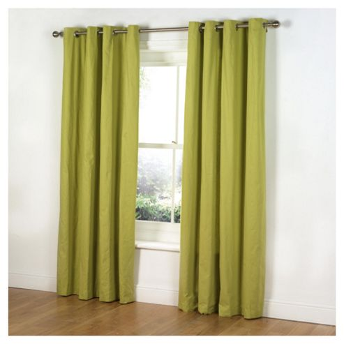 Tesco Plain Canvas Unlined Eyelet Curtains W168xL229cm (66x90
