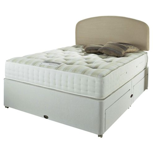 Rest Assured Double Divan Bed Set, Royal Ortho 1000, 2 Drawer
