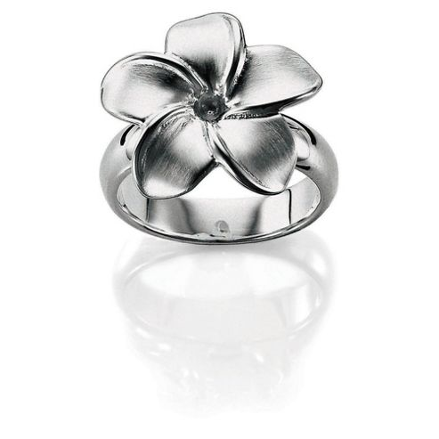 Sterling Silver Flower Ring, Medium