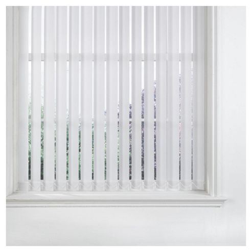 Sunlover Vertical Blind W122 x Drop 229cm, White