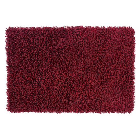 Tesco Rugs Orbit Shaggy Rug, Crimson 150X240Cm