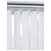 Vertical Blind White Patterned W183Xdrop137Cm
