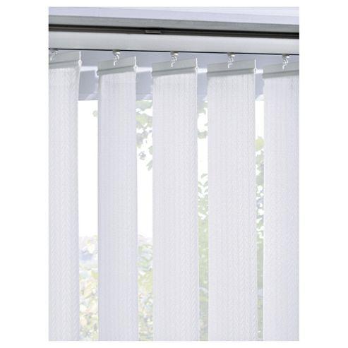 Sunflex Vertical Blind White Patterned W183Xdrop137Cm