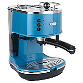 DeLonghi  15 Bar Pump Espresso Coffee Machine - Blue