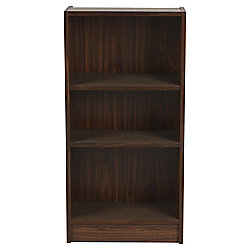 Fraser 3 Shelf Bookcase, Walnut-Effect