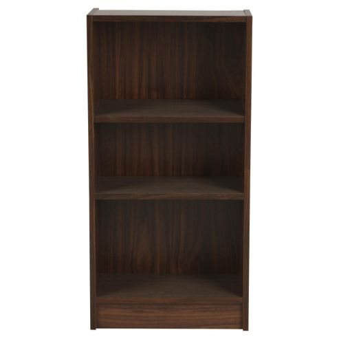 Fraser Walnut Effect 3 Shelf Bookcase
