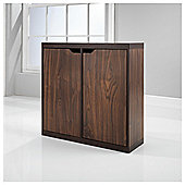 Seattle 2 Door Storage Cube, Walnut Effect