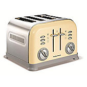 Morphy Richards 44038 Accents 4 Slice Toaster - Cream