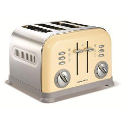 Morphy Richards 44038 4 Slice Toaster - Cream
