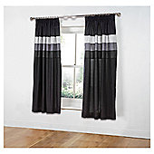 "Tesco Nanza Curtains W167xL183cm (66x72""), Black"