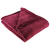 Tesco Supersoft Throw, Plum