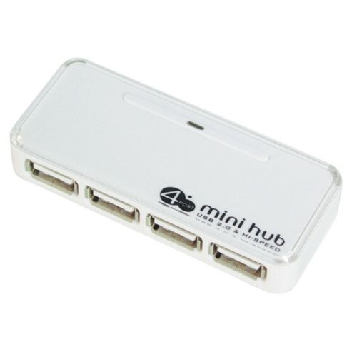 Tesco Usb Hub 4 Port Front - White