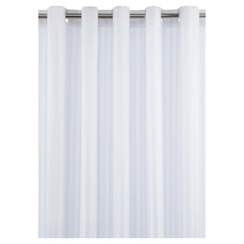 Tesco Satin Stripe Shower Curtain