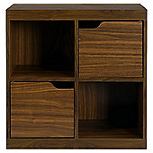 Seattle Storage Cube with Doors, Walnut-effect