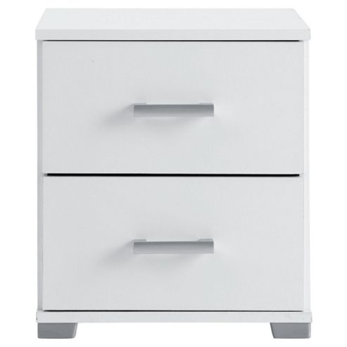 Fresno Bedside Table, White
