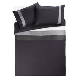 Tesco Nanza Duvet Set Double, Black