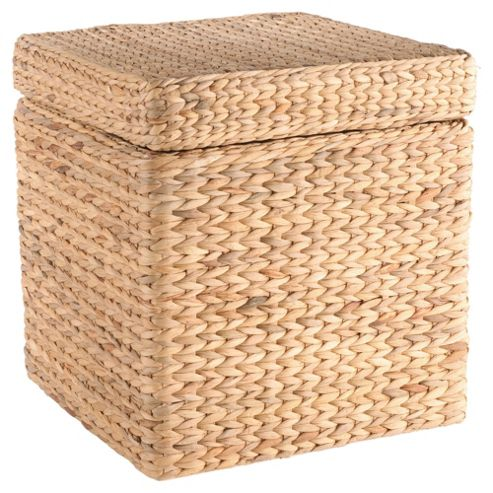 buy tesco water hyacinth square storage box from our. Black Bedroom Furniture Sets. Home Design Ideas