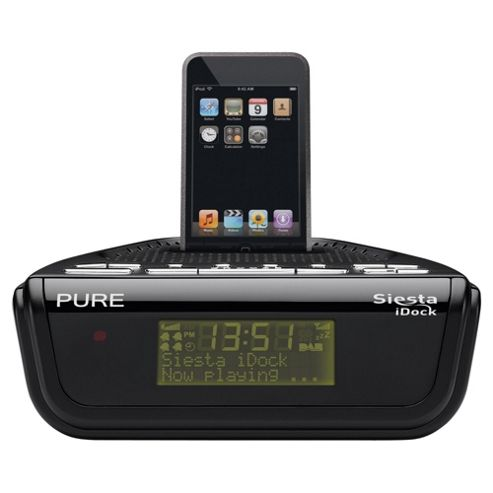 buy pure siesta idock dab fm ipod alarm radio from our clock radio range tesco. Black Bedroom Furniture Sets. Home Design Ideas