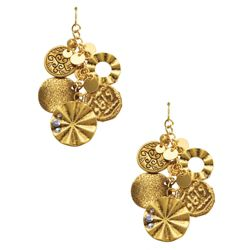 Elspeth Gibson Gold Coin Earrings