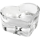 Hill Interiors Small Glass Heart Tealight Holder