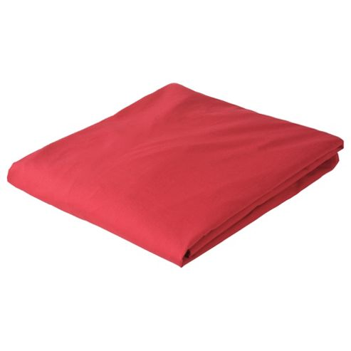 Tesco Single Fitted Sheet, Cherry