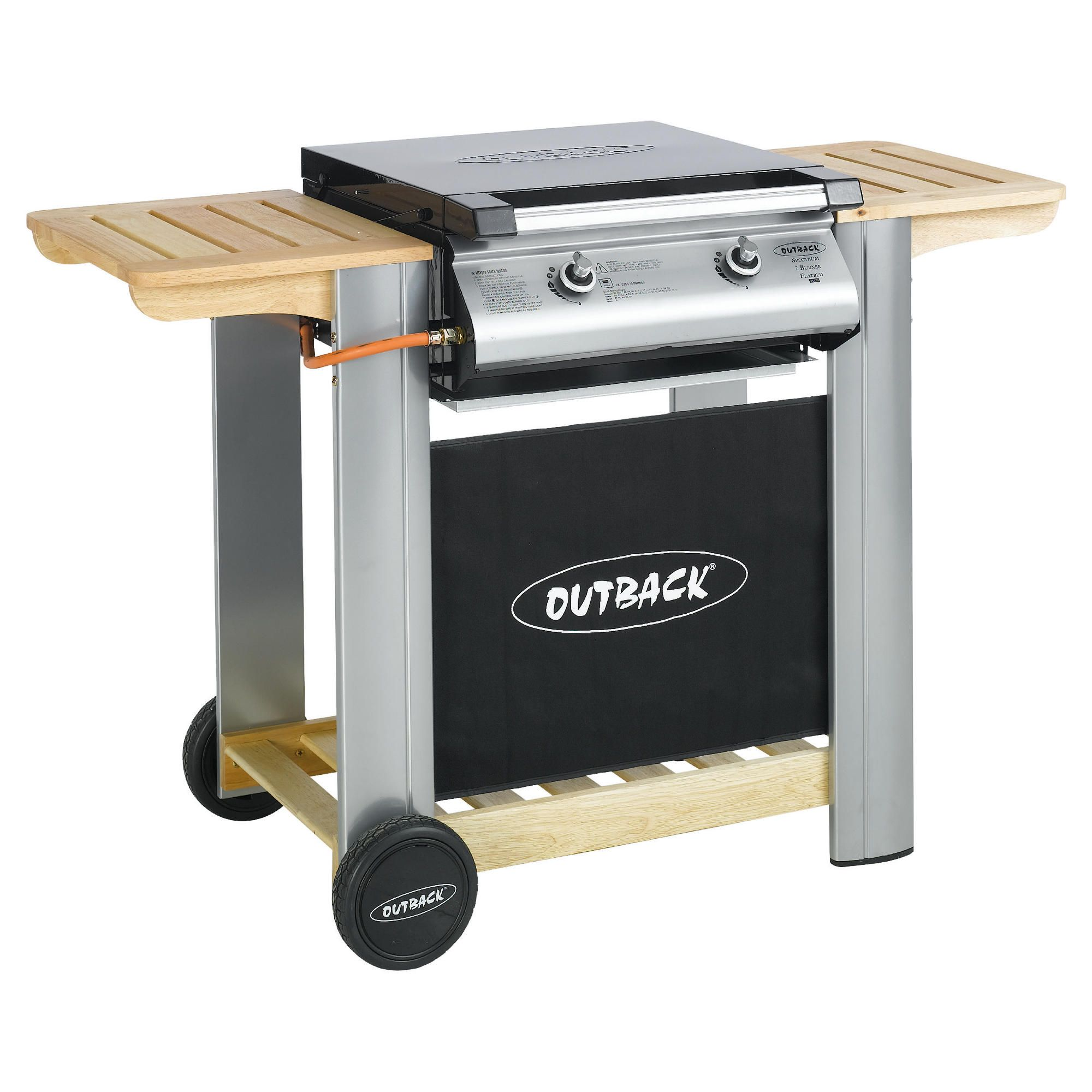Outback Spectrum 2 Burner Flatbed Gas BBQ with Cover at Tesco Direct