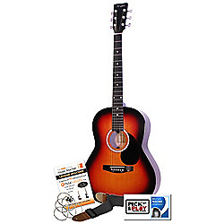 Martin Smith Acoustic Guitar W100 Sunburst