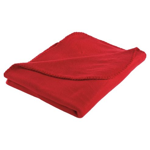 Tesco Kids Fleece Blanket, Red