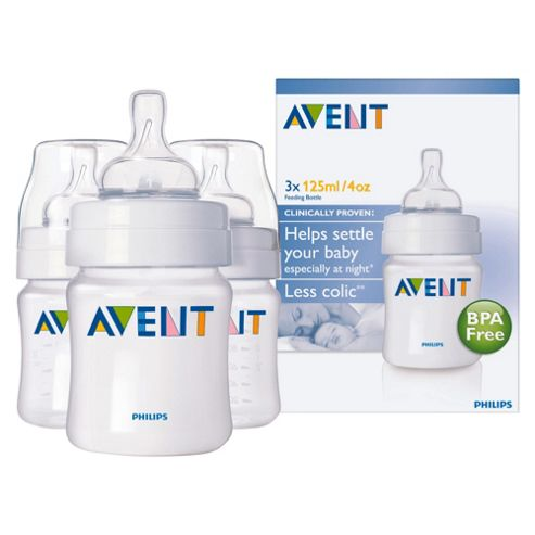 Philips Avent Airflex 125ml Bottles x 3