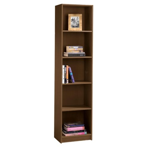 Fraser Walnut Effect 5 Shelf Bookcase