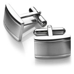 Stainless Steel Oblong Domed Cufflinks