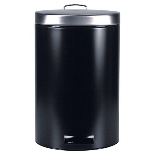 Brabantia 20L matt black pedal bin with food trap