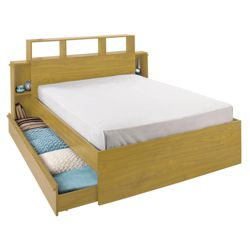 Brandon Double Storage Bed, Oak-effect
