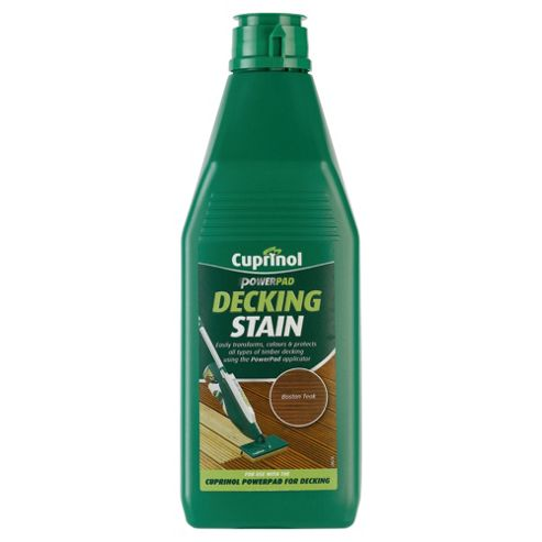 Cuprinol Power Pad Decking Stain, 1L, Boston Teak