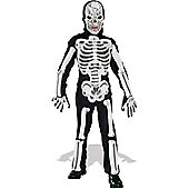 Rubies Fancy Dress - EVA Skeleton - Boys Large. UK Size 8-10 Years